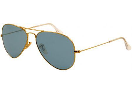 Ray-Ban Gold Aviator Large Grey Metal Unisex Sunglasses - RB3025 001-62