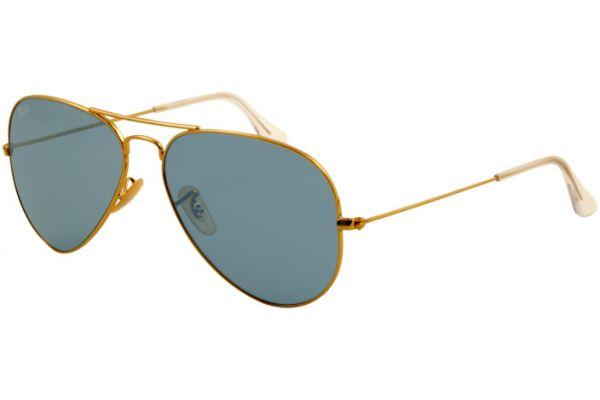 Large image of Ray-Ban Gold Aviator Large Unisex Sunglasses - RB3025 001 62-14
