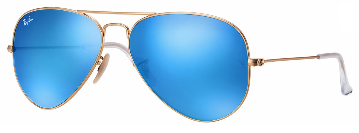 1437d39c55 Ray-Ban Aviator Blue Flash Lenses Gold Unisex Sunglasses - RB3025 112 17 55
