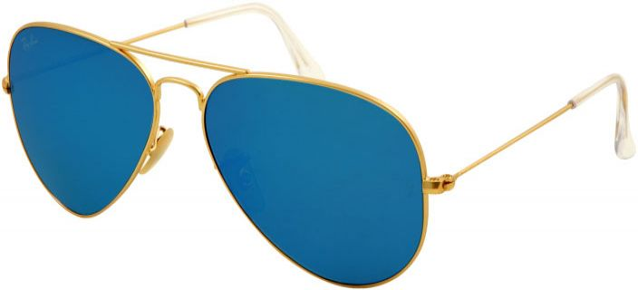 ba5117419e72 Ray-Ban Aviator Gold Unisex Sunglasses Crystal Blue - RB3025 112 17 58