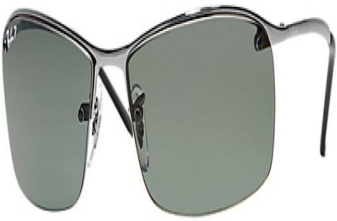 f5f6111618e Ray-Ban Gunmetal Polarized Rectangle Mens Sunglasses - RB3183 004 9A 63-15