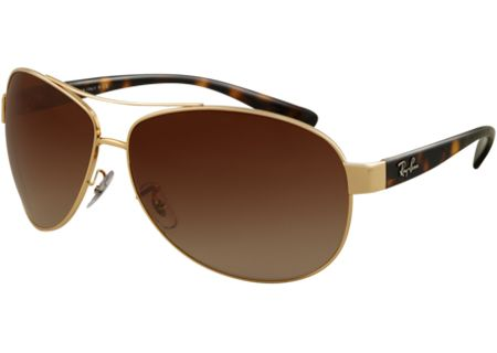 Ray-Ban RB3386 Lifestyle Aviator Brown And Gold Unisex Sunglasses - RB3386 001/13