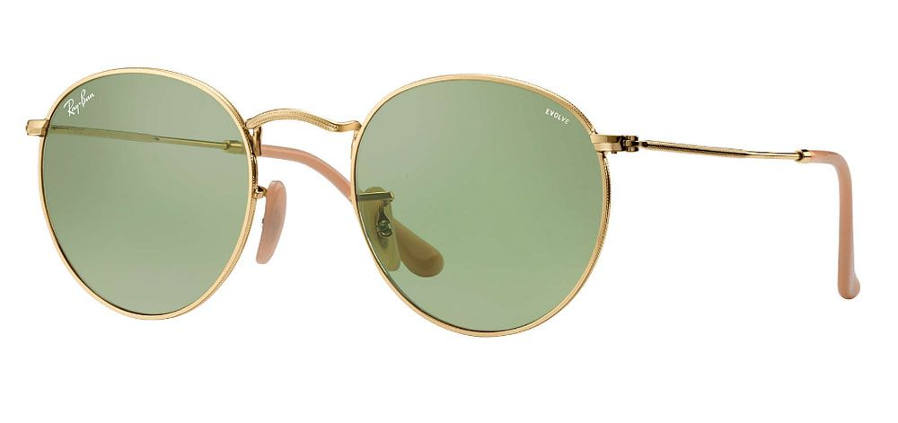 Ray-Ban Round Evolve Gold 53mm Unisex Sunglasses - RB3447 90644C 53 2e4be4287e