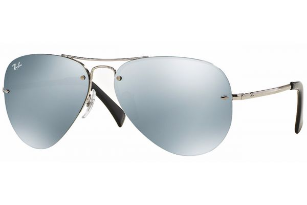 Large image of Ray-Ban Metal Man Pilot Silver Mirror Mens Sunglasses - RB3449003/30