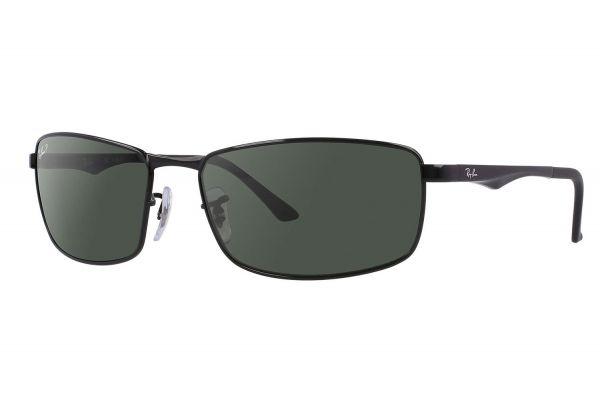 Ray-Ban Black Polarized Green Classic G-15 Sunglasses - RB3498 002/9A 61-17