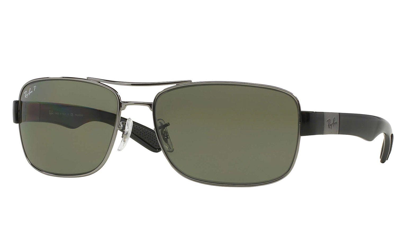 aee1c3f52ac Ray-Ban Gunmetal Polarized Green Classic G-15 Sunglasses - RB3522 004 9A
