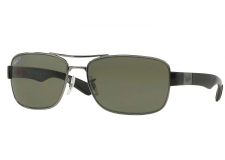 Ray-Ban Gunmetal Polarized Green Classic G-15 Sunglasses - RB3522 004/9A 61-17