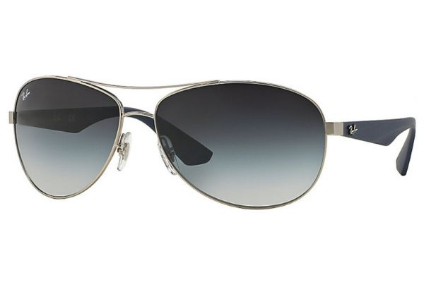 Large image of Ray-Ban RB3526 Grey Gradient Aviator Unisex Sunglasses - RB3526 019/8G 63
