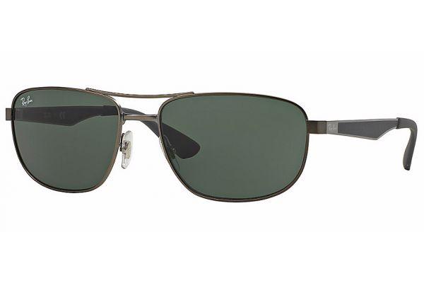 Ray-Ban Square Gunmetal Active  Classic Green Mens Sunglasses - 0RB3528 029/71 61