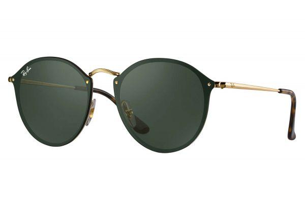 Ray-Ban Blaze Round Green Classic Womens Sunglasses - RB3574N 001/71 59