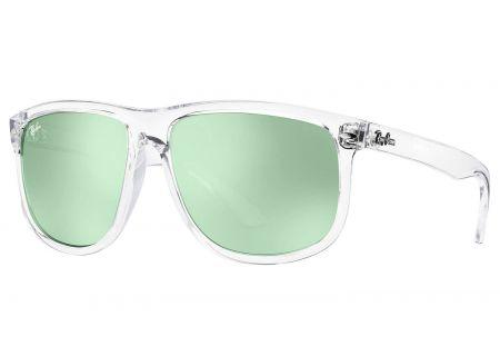 Ray-Ban Highstreet Dark Green/Silver Mirror Mens Sunglasses - RB4147 632530 60-15