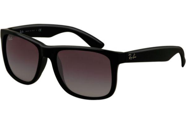 Ray-Ban Black Rectangle Unisex Sunglasses - RB4165 601/8G 55