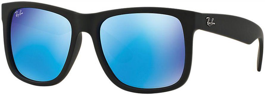 d0b5b680e04 Ray-Ban Justin Blue Mirror Rectangle Unisex Sunglasses - RB4165 622 55 59