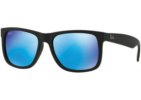 Ray-Ban Justin Blue Mirror Rectangle Unisex Sunglasses - RB4165 622/55 59