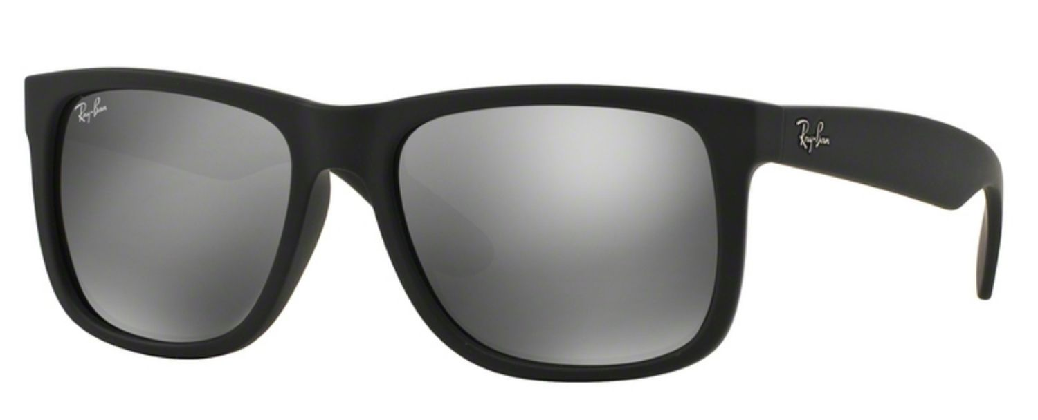 655c88d7dd647a Ray-Ban Justin Color Mix Grey Mirror Mens Sunglasses - RB4165 622 6G 55-16