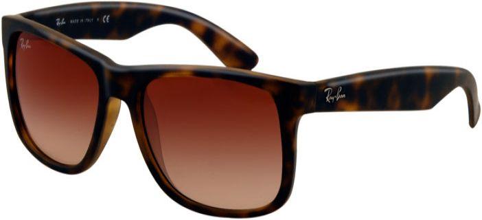 c7bf1916d Ray-Ban Justin Light Havana Rectangle Unisex Sunglasses - RB4165 710/13 55