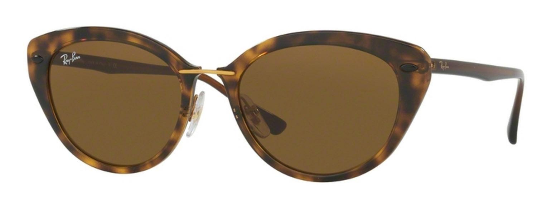 Ray Ban Cat Eye Sunglasses Shiny Havana