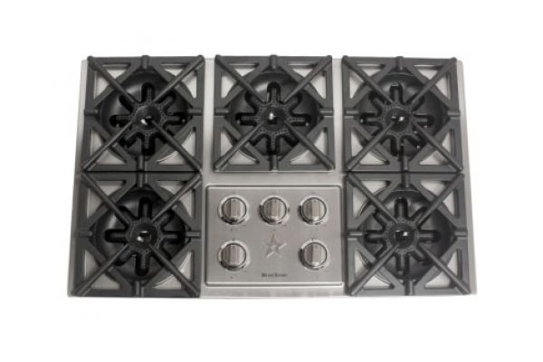 """Large image of BlueStar 36"""" Drop In Stainless Steel  Gas Cooktop - RBCT365BSSV2"""