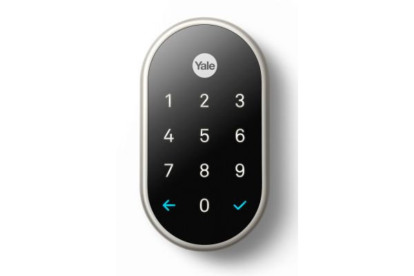 Large image of Google Nest x Yale Lock Satin Nickel With Nest Connect - RB-YRD540-WV619