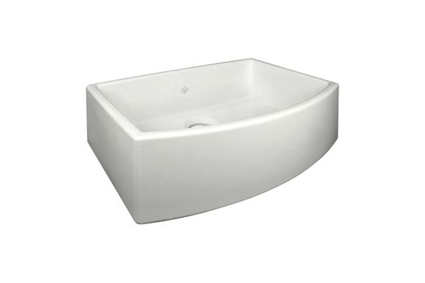 Large image of Rohl Shaws Fireclay Parchment Apron Single Bowl Kitchen Sink  - RC3021PCT