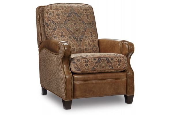 Large image of Hooker Furniture Brown Leather Brandy Recliner - RC358-010