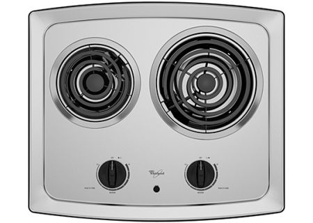 """Whirlpool 21"""" Stainless Electric Cooktop - RCS2012RS"""