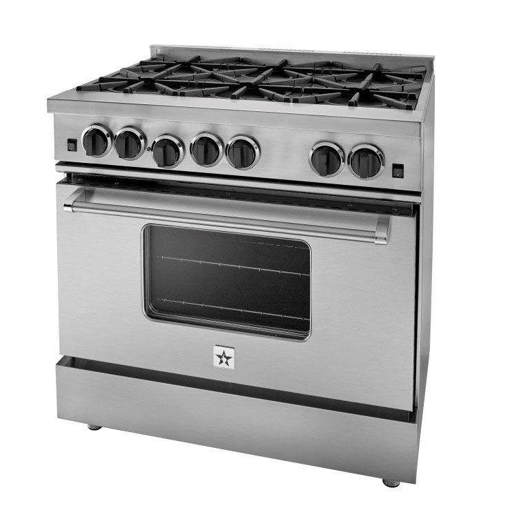 36 Gas Range >> Bluestar 36 Stainless Steel Freestanding Gas Range