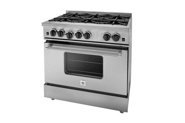 """Large image of BlueStar Culinary Series 36"""" Stainless Steel Natural Gas Range - RCS366BV2"""