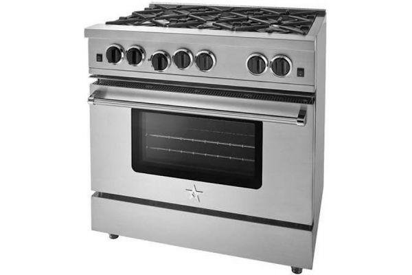 "Large image of BlueStar 36"" Sealed Burner Series Stainless Steel Gas Range - RCS36SBV2"
