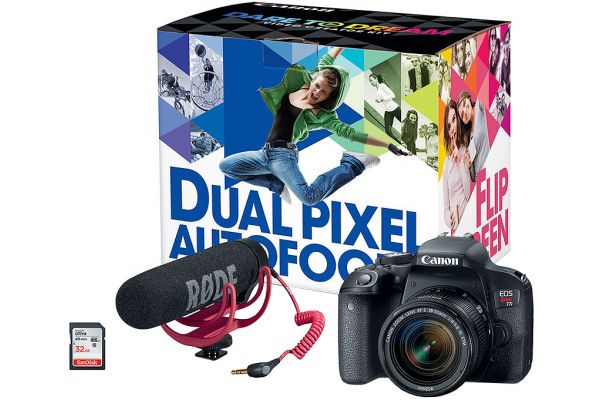Large image of Canon EOS Rebel T7i Video Creator Kit - 1894C021