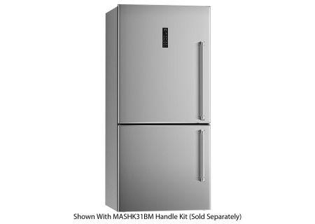 "Bertazzoni 31"" Stainless Steel Counter Depth Bottom Freezer Refrigerator - REF31BMXL"
