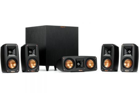 Klipsch Black Reference Theater Pack 5.1 Surround Sound System - REFTHEATERPACK51
