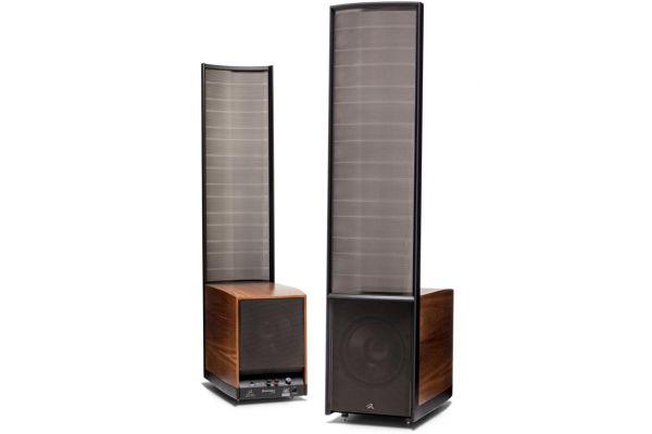 Large image of MartinLogan Renaissance ESL 15A Walnut Floorstanding Speakers (Pair) - RENAIS15AWAL