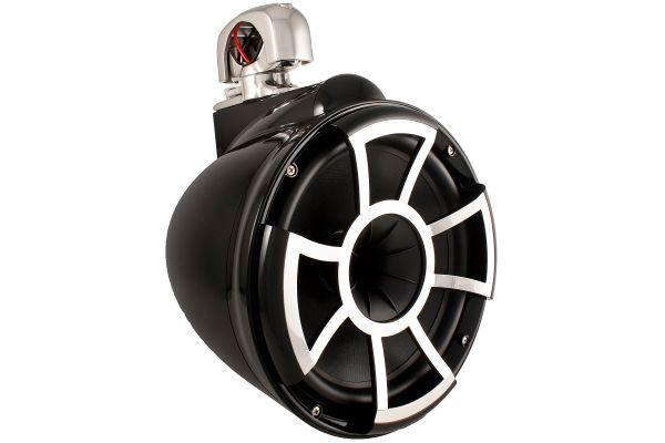 """Large image of Wet Sounds 10"""" Revolution EFG Swivel Clamp Black Marine Tower Speaker - REV10B-SC"""