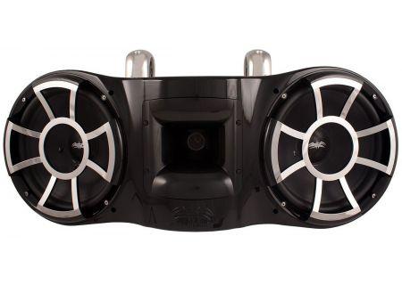 """Wet Sounds Dual 10"""" Revolution EFG Fixed Clamp Black Marine Tower Speaker - REV410B-FC"""