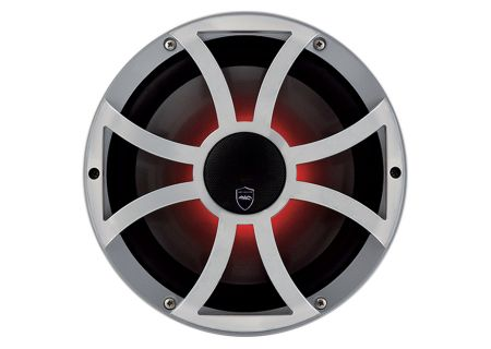 "Wet Sounds REVO 10CX Silver 10"" Coaxial 2-Way Marine Speaker - REVO CX-10 XS-S"
