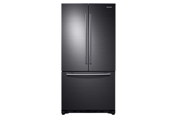 Samsung 18 Cu. Ft. Fingerprint Resistant Black Stainless Counter Depth French Door Refrigerator - RF18HFENBSG
