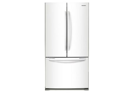 Samsung 18 Cu. Ft. White Counter Depth French Door Bottom Freezer Refrigerator  - RF18HFENBWW