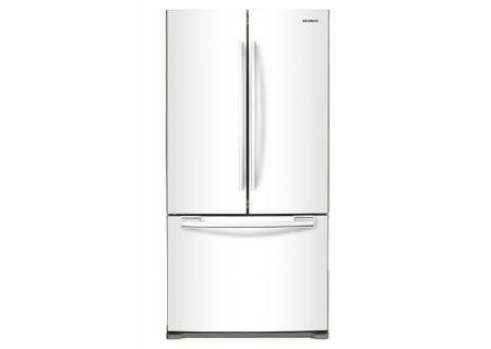 Samsung 20 Cu. Ft. White French Door Bottom Freezer Refrigerator  - RF20HFENBWW
