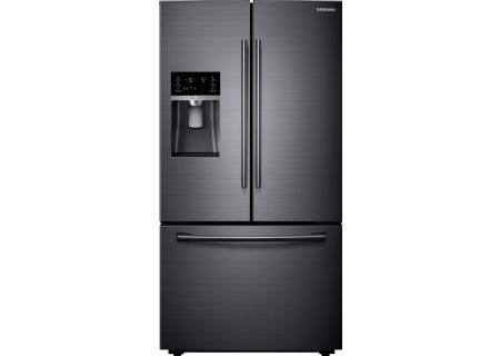 Samsung Fingerprint Resistant Black Stainless Counter Depth French Door Refrigerator - RF23HCEDBSG