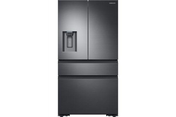Large image of Samsung 23 Cu. Ft. Fingerprint Resistant Black Stainless Steel Counter-Depth 4-Door French Door Refrigerator - RF23M8070SG/AA