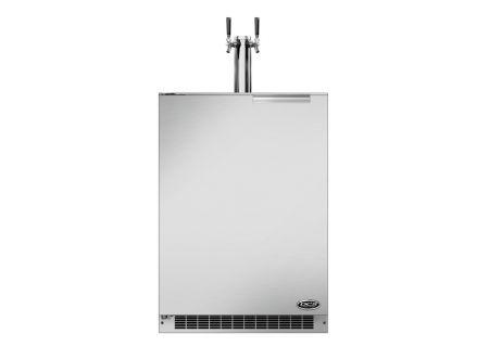 "Fisher & Paykel 24"" Stainless Steel Dual Tap Outdoor Beer Dispenser - RF24BTL1"