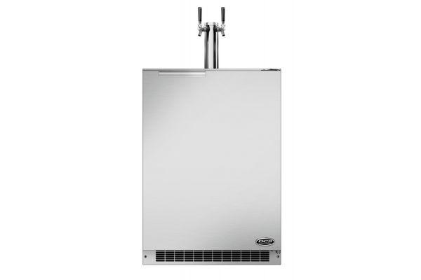"Fisher & Paykel 24"" Stainless Steel Dual Tap Outdoor Beer Dispenser - RF24BTR1"