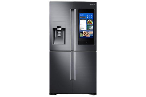 Samsung Fingerprint Resistant Black Stainless 4-Door Flex  French Door Refrigerator With Family Hub - RF28N9780SG