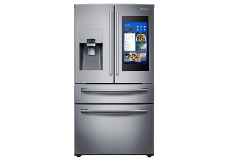 Samsung 28 Cu. Ft. Stainless Steel 4-Door French Door Refrigerator With Family Hub - RF28NHEDBSR