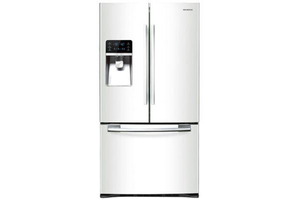Large image of Samsung RFG297 White 29 Cu. Ft. French Door Bottom Freezer Refrigerator - RFG297HDWP/XAA