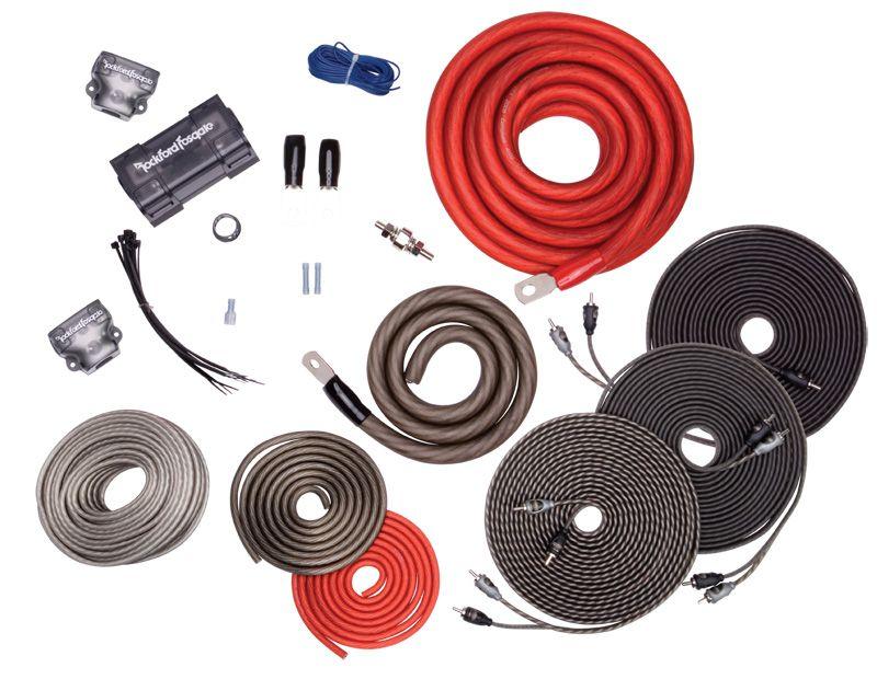 Rockford Fosgate Dual Amp 1/0 AWG Wiring Kit - RFK1D - Abt on