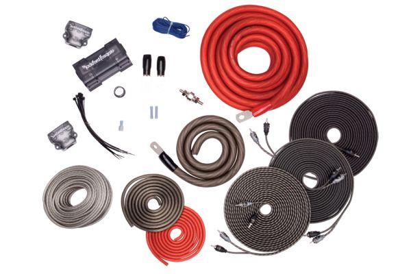 Rockford Fosgate Dual Amp 1/0 AWG Wiring Kit - RFK1D