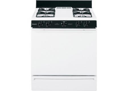 "GE Hotpoint 30"" White Freestanding Gas Range - RGB518PCHWH"