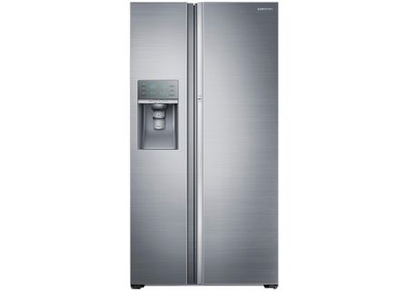 Samsung 22 Cu Ft Counter Depth Stainless Steel Side By Side Food ShowCase Refrigerator - RH22H9010SR